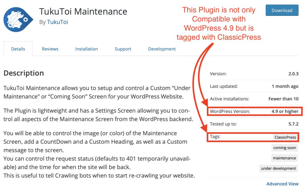 A ClassicPress Compatible Plugin