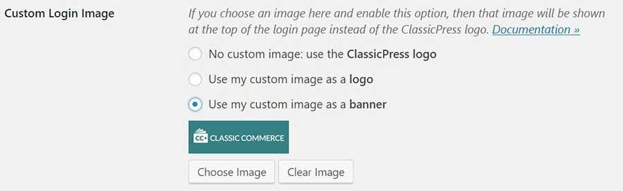 Choosing a custom image as the banner