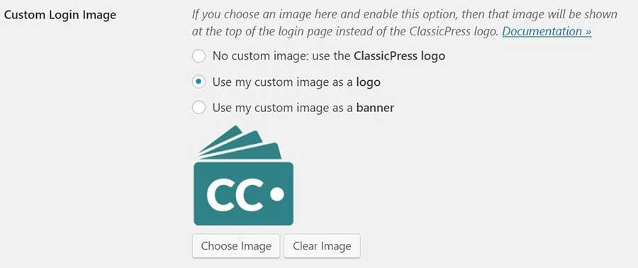 Choosing a custom login image